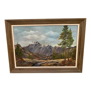 Vintage Mid-Century Landscape Oil on Canvas Signed by Peter Haller For Sale
