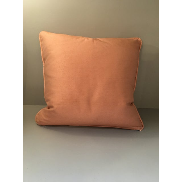 Fortuny Melon & Silvery Gold Fortuny Sevigne Pillow For Sale - Image 4 of 5
