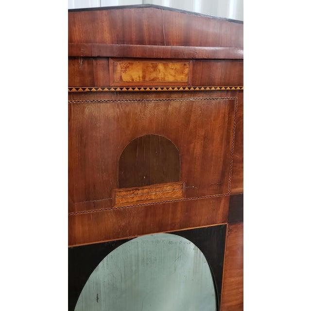 Early 19th Century Walnut & Mahogany Biedermeier Mirror C.1830s For Sale - Image 4 of 8