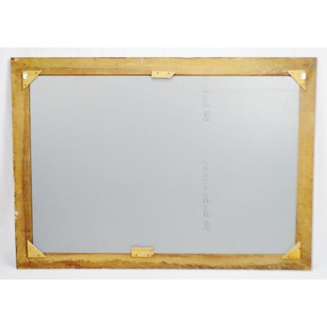 Vintage Mottled Paint Framed Mirror - Image 9 of 10