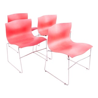 Massimo Vignelli for Knoll International Mid Century Handkerchief Chairs - Set of 4 For Sale