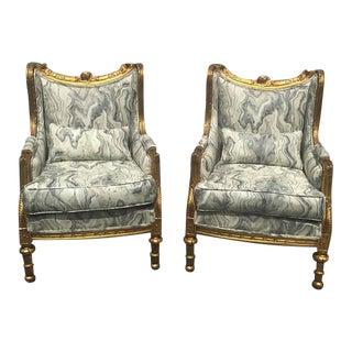 Louis XVI Baroque Bergere Chairs - A Pair