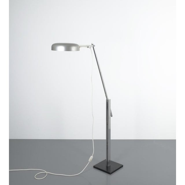 Metal Articulate Aluminum Floor Lamp by Schliephacke for Mewa, Circa 1955 For Sale - Image 7 of 12