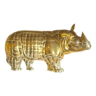 Bustamante Brass Wall Rhinoceros For Sale