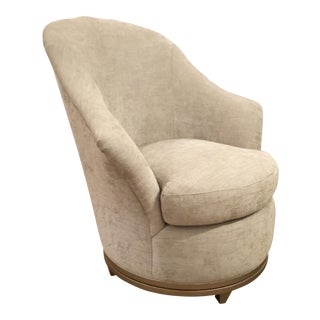 Modern Caracole Avondale Swivel Chair For Sale