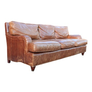 "Vintage Baker ""Milling Road Collection"" Luxury Leather Sofa"