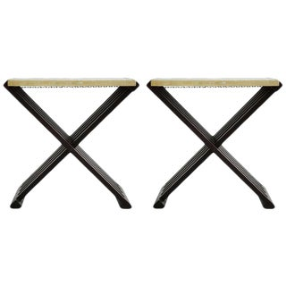 Pair of Edward Wormley Campaign Tables For Sale
