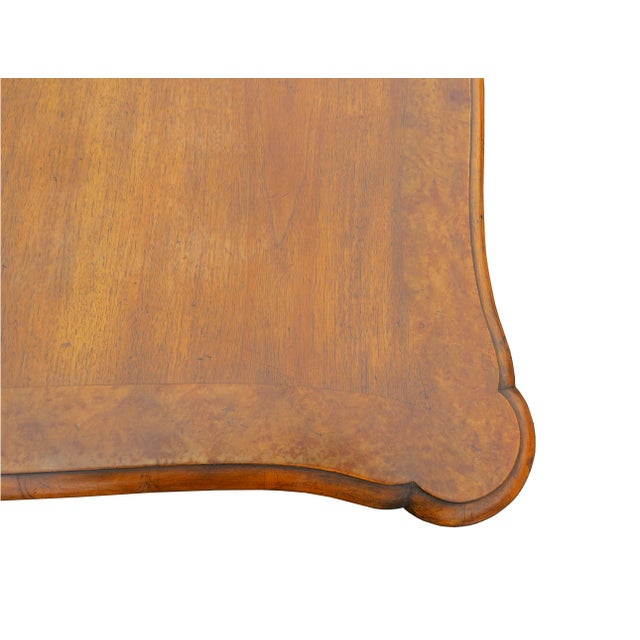"""Brown Vintage Baker Furniture Co """"Collector's Choice"""" Queen Anne Dining Table With Leaves For Sale - Image 8 of 11"""