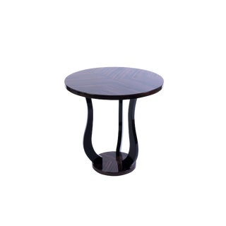 Sensational French Art Deco Tulip Side Table In Macassar For Sale
