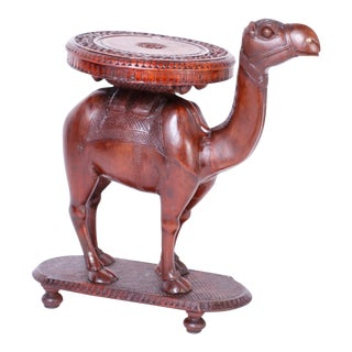 Anglo-Indian Carved Wood Camel Stand For Sale