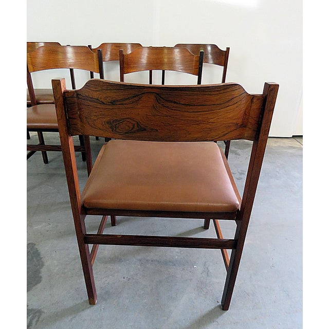 Frattini Rosewood Dining Side Chairs - Set of 6 - Image 4 of 7