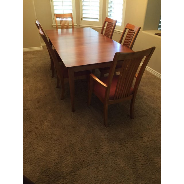 Ethan Allen rectangular dining table from the New Impressions grouping done in the Prairie finish. The perfect size with...