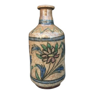 Antique Persian Iznik Pottery Vase For Sale
