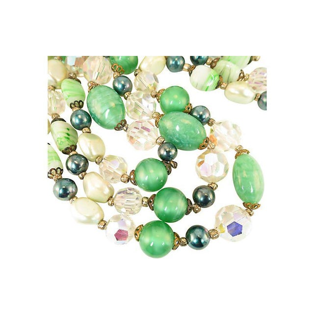 Austrian Crystal & Peking Glass Necklace, 1950s For Sale In Los Angeles - Image 6 of 8