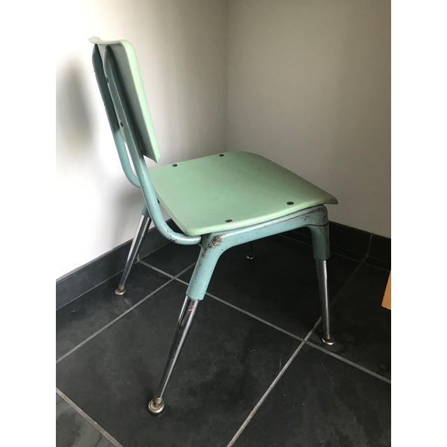 Industrial Vintage 1950's Child Chair For Sale - Image 3 of 5