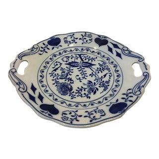 Blue & White Porcelain Serving Plate For Sale
