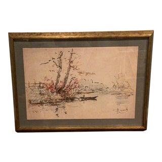 1900 Dutch Landscape Study Print For Sale