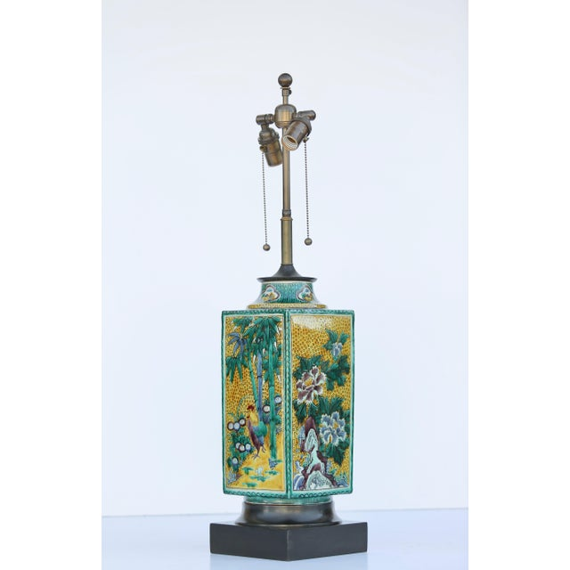 Asian William Haines Chinese Ceramic Table Lamps - a Pair For Sale - Image 3 of 7