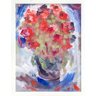 Oil Painting of a Still Life With Flowers For Sale