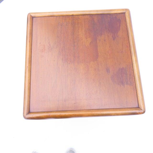 Brown t.h. Robsjohn-Gibbings for Widdicomb Tapered Single Drawer Side Table For Sale - Image 8 of 10