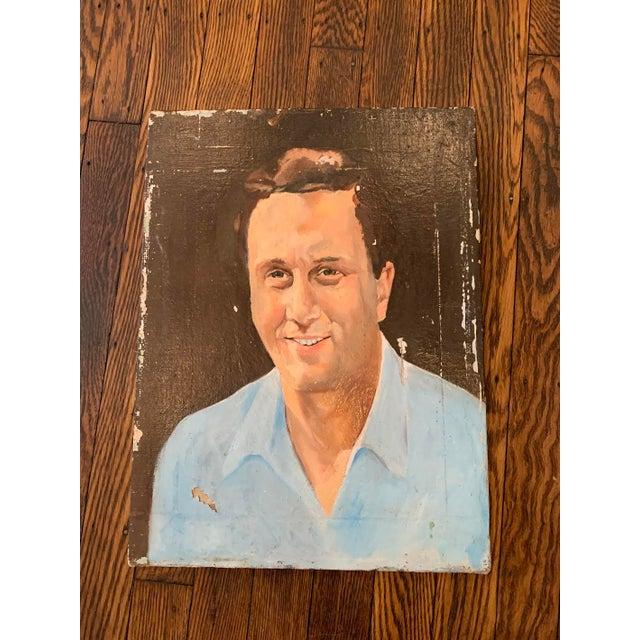 Figurative Vintage Mr. Man Oil Painting, Stranger Art For Sale - Image 3 of 6