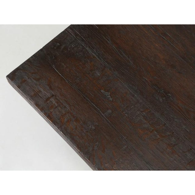 Antique French Oak Trestle Dining Table For Sale In Chicago - Image 6 of 13