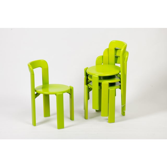 Mid-Century Modern Dietiker Rey Jr Arik Levy Soft Acid Color Green Chair For Sale - Image 3 of 8
