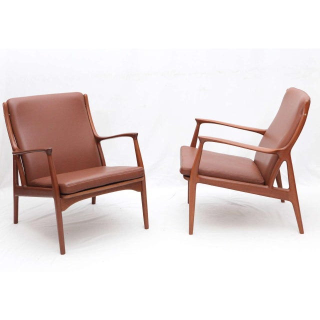 Pair of S. A. Andersen Lounge Chairs - Image 2 of 10