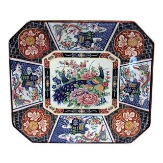 Rectangular Asian Peacock Platter For Sale