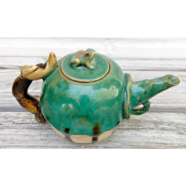 Handmade Pottery Frog Teapot For Sale In Orlando - Image 6 of 7