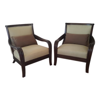 Thomasville Bentwood Arm Lounge Chairs - a Pair For Sale