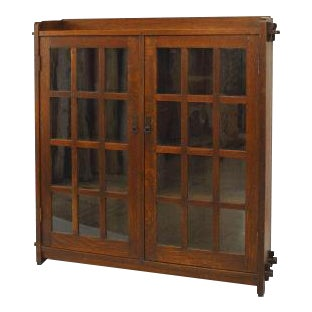American Mission oak bookcase For Sale