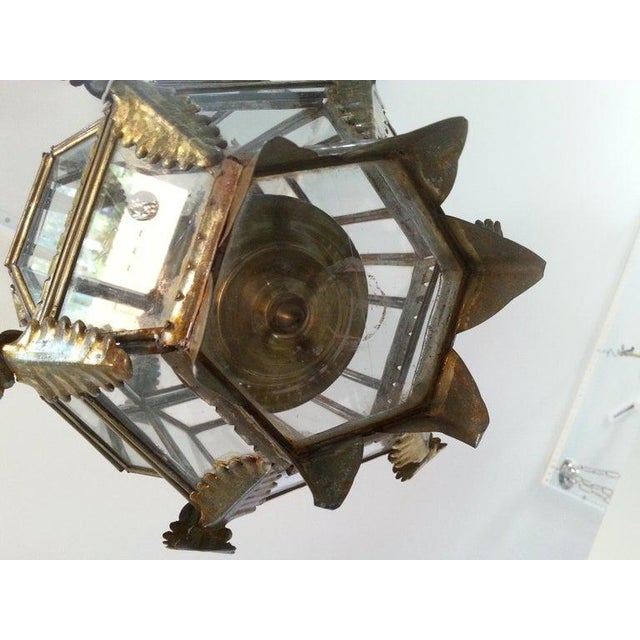 Mid-Century Spanish Colonial Style Chandelier For Sale - Image 4 of 12