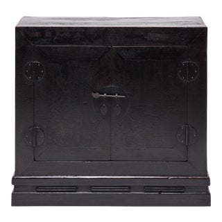 19th Century Chinese Black Elm Book Chest For Sale