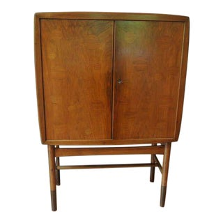 Edvard and Tove Kindt-Larsen Walnut Bar Cabinet For Sale