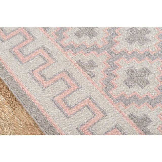 "Contemporary Erin Gates by Momeni Thompson Brookline Pink Runner Hand Woven Wool Area Rug - 2'3"" X 8' For Sale - Image 3 of 8"