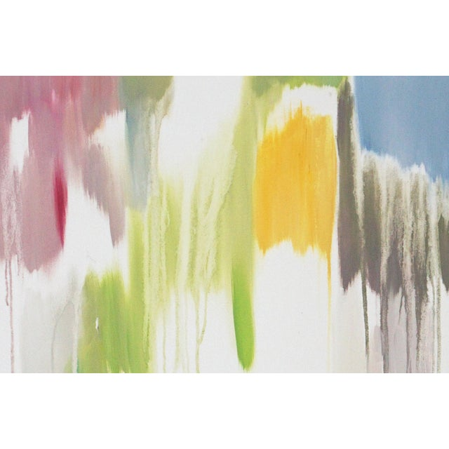 """2010s 2016 Natalia Roman Abstract Painting, """"Tropical Vines Palette"""" For Sale - Image 5 of 7"""