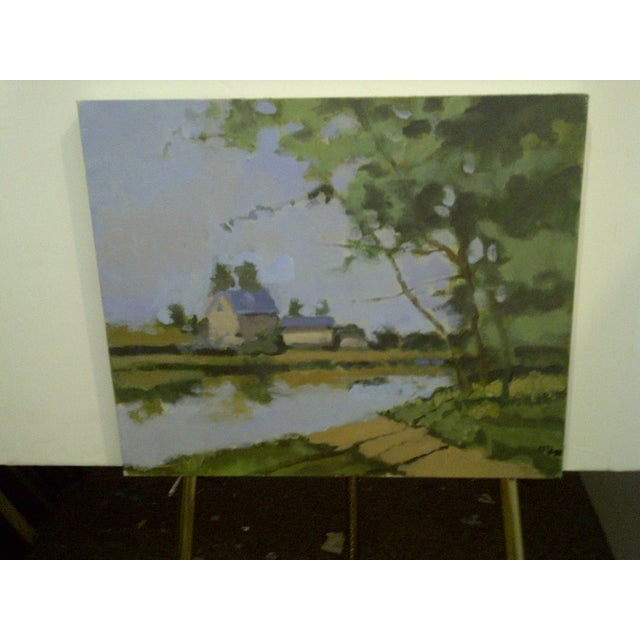 "Country ""The Farm"" Original Painting by Frederick McDuff For Sale - Image 3 of 7"