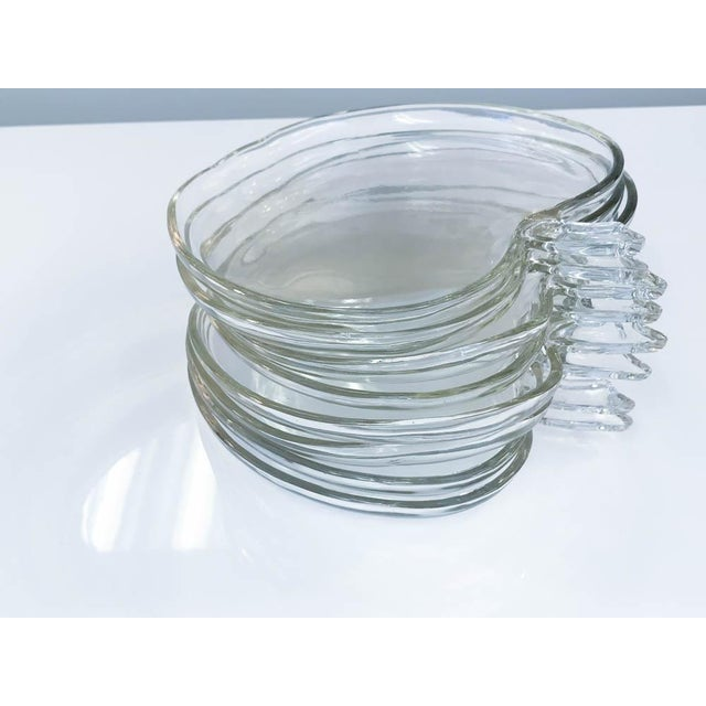 Glass Apple Shape Plates - Set of 8 For Sale In New York - Image 6 of 7