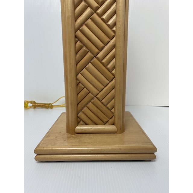 Vintage 1970's Bamboo Table Lamps - a Pair For Sale In West Palm - Image 6 of 7