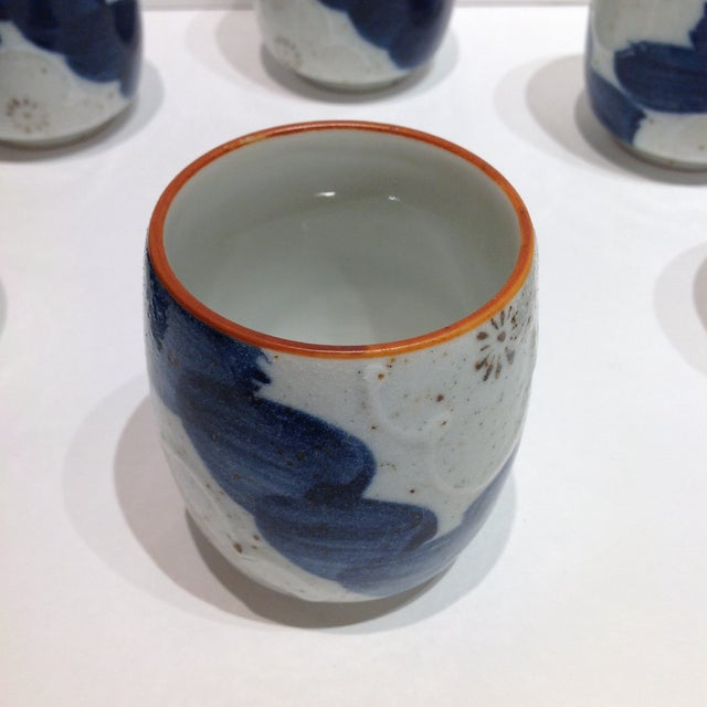 Japanese Painted Tea Cups - Set of 6 - Image 5 of 7