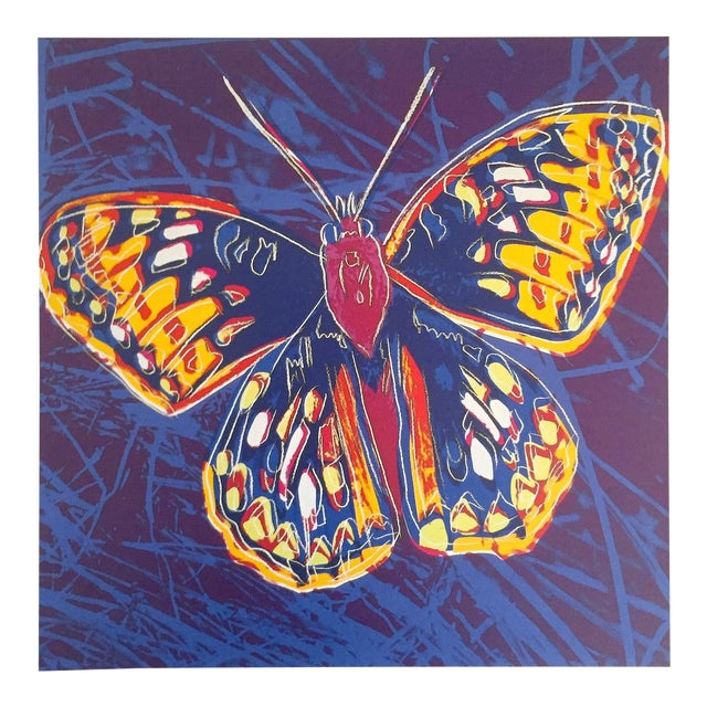 """Andy Warhol Estate Rare Vintage 1992 Endangered Species Collector's Lithograph Pop Art Print """" San Francisco Silverspot Butterfly """" 1983 For Sale"""