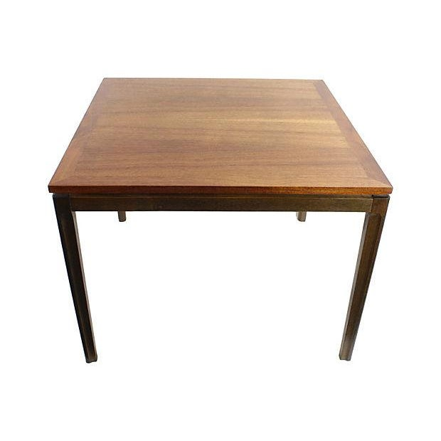Mid-Century Danish Modern Two-Tone Teak End Table - Image 5 of 5