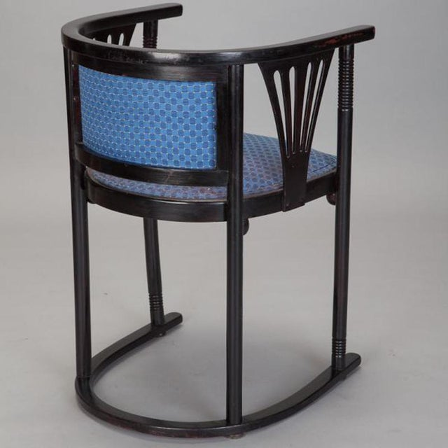 Pair of Josef Hoffmann Armchairs with Blue Upholstery - Image 5 of 5