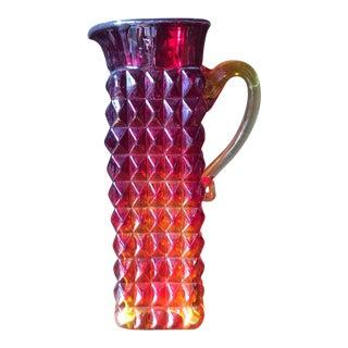 Mid-Century Modern Brutalist Style Glass Vase