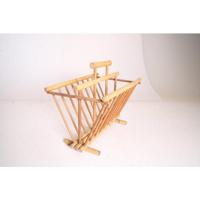 Vintage Boho Chic Bamboo Magazine Rack - Image 10 of 11