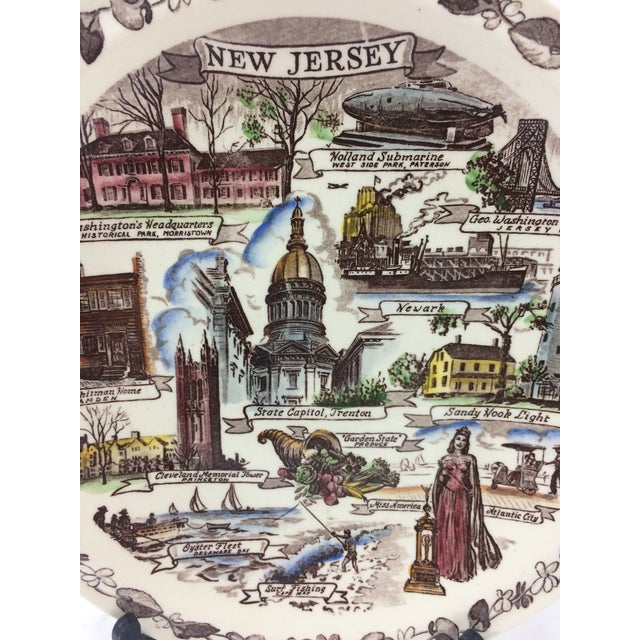 Whether you're from New Jersey or just love the Garden State, this souvenir plate is a fantastically colorful tribute!...