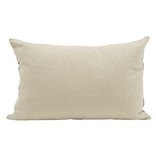 Egyptian Blue and Beige Silk Velvet Pillow Preview