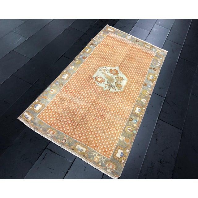 Handknotted anatolian vintage rug, vintage Turkish rug, decorative area rug, bohemian decor rug, tribal rug, natural wool...