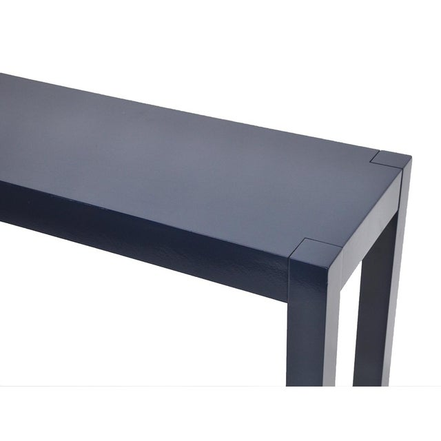 Navy Lacquered Console Table - Image 4 of 6